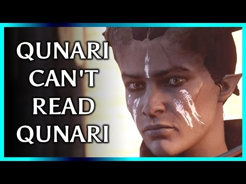 Dragon Age: Why Can't Qunari Inquisitor Read Qunari Text - Trespasser DLC