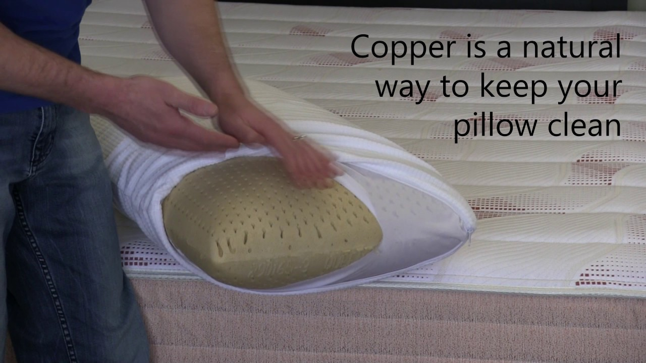 PangeaBed Copper Infused Pillow - YouTube