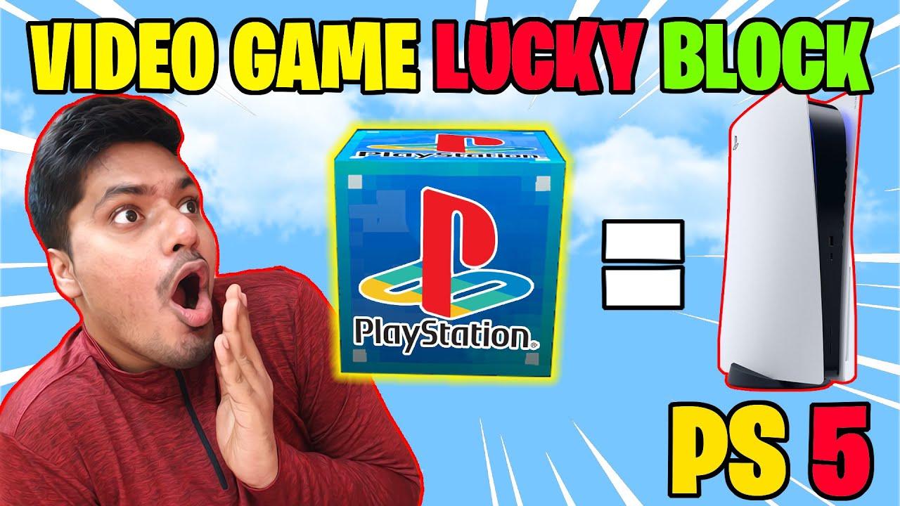 Video Games Lucky Block - Playstation 5 inside Lucky Block ??    minecraft hindi