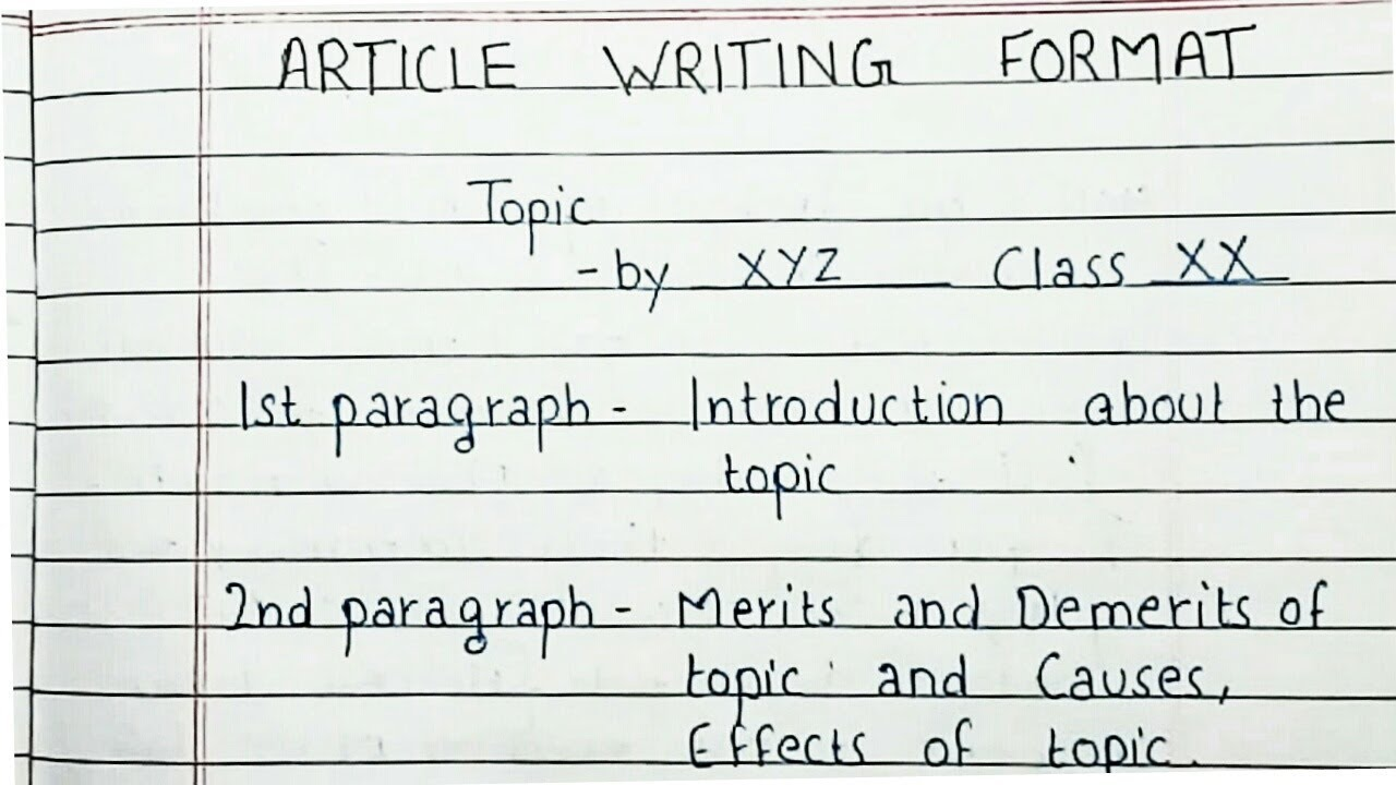 How to write an article  Article Writing Format