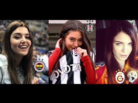 Ekranlardaki En Güzel En Sevilen Ünlüler Hangi Takımı Tutuyor (Beşiktaş Fenerbahçe Galatasaray)
