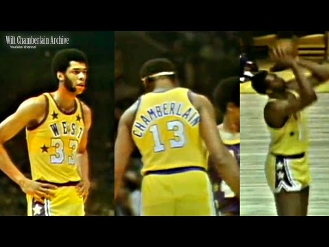 Kareem Abdul-Jabbar, Wilt Chamberlain, Bob Lanier 22p//20r/6a/2b/1s (1972 NBA ASG Full Highlights)