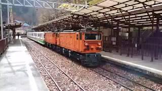 黒部峡谷鉄道 鐘釣駅 スイッチバック発車