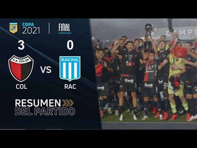 Copa De La Liga | Final | resumen de Colón - Racing