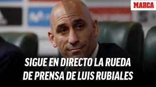 Rueda de prensa de Luis Rubiales en la que anuncia al nuevo seleccionador, en directo    MARCA