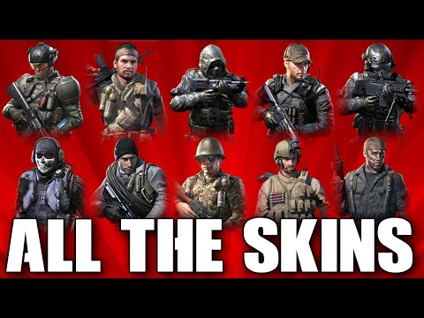 Call Of Duty Mobile Skins All Characters In Cod Mobile Youtube