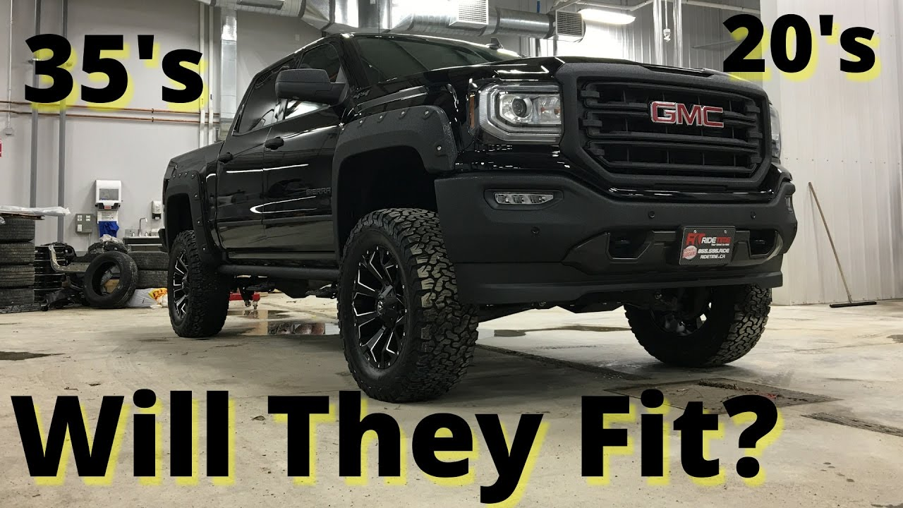 Will They Fit? 2017 GMC Sierra 1500 SLT w/ 35's on 20's ...