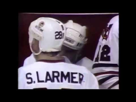 Chicago Blackhawks 1985 playoff sports center clips