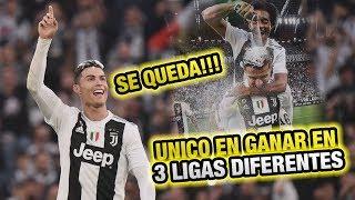 La Juventus de CR7 Campeón - RECORD Cristiano Ronaldo Gana en las 3 principales ligas