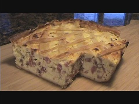 Italian Easter Pie Pizzagaina How To Make Rustic Meat And Cheese Pie Youtube