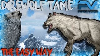 ARK | THE CENTER | TAMING A DIRE WOLF | NO FUR OR FORTITUDE!