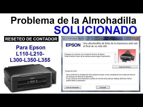 Como Resetear El Contador De Almohadilla Epson L110 L210 L300 L350 L355│SOLUCIONADO