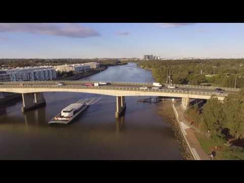 Drone Footage Parramatta River & Western Sydney Uni