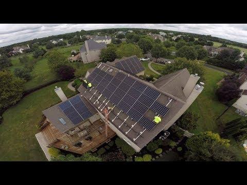 Wow, A 35.5 KW solar roof mount in West Windsor NJ