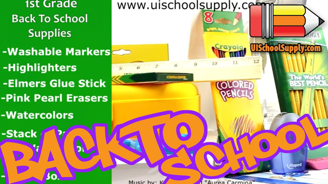 1st Grade Back To School Supplies Check List
