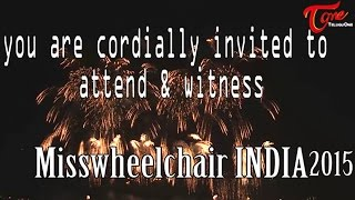 Misswheelchair India 2015 Invitation