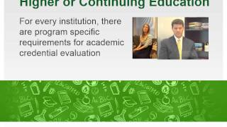 WES Credential Evaluation & Recognition