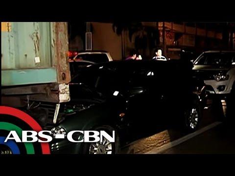 SUV ng lasing na pulis, binangga ang kotse ng TV reporter