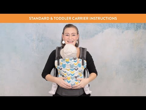Tula Baby Carrier Front Carry Instructions - How to Use Baby Carrier