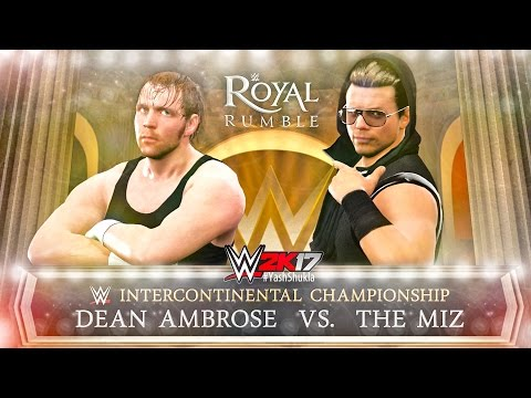 WWE 2K17 The Miz vs Dean Ambrose | Intercontinental Championship Gameplay Match