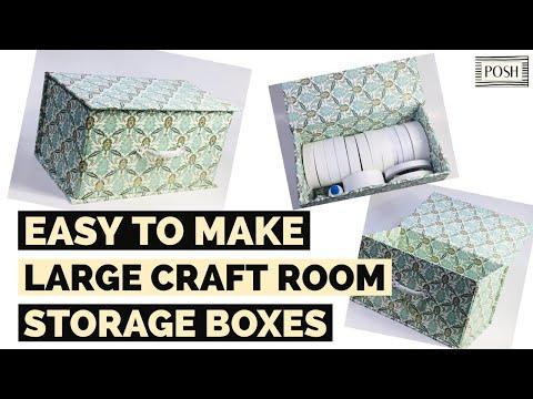 MORE EASY CRAFT ROOM STORAGE BOXES!! 6X6 PAPER PAD STORAGE BOX TUTORIAL! GREAT CRAFT ROOM REDO IDEA!
