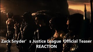 Zack Snyder's Justice League  Official Teaser  HBO Max REACTION