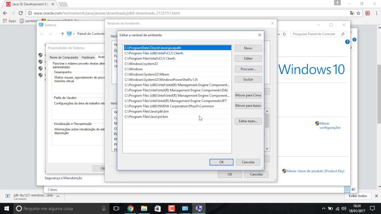 descargar java jdk windows 10