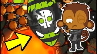 I used the most BROKEN tower and they surrendered.... (Bloons TD Battles)