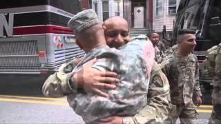 Scenes of N.J. soldiers coming home
