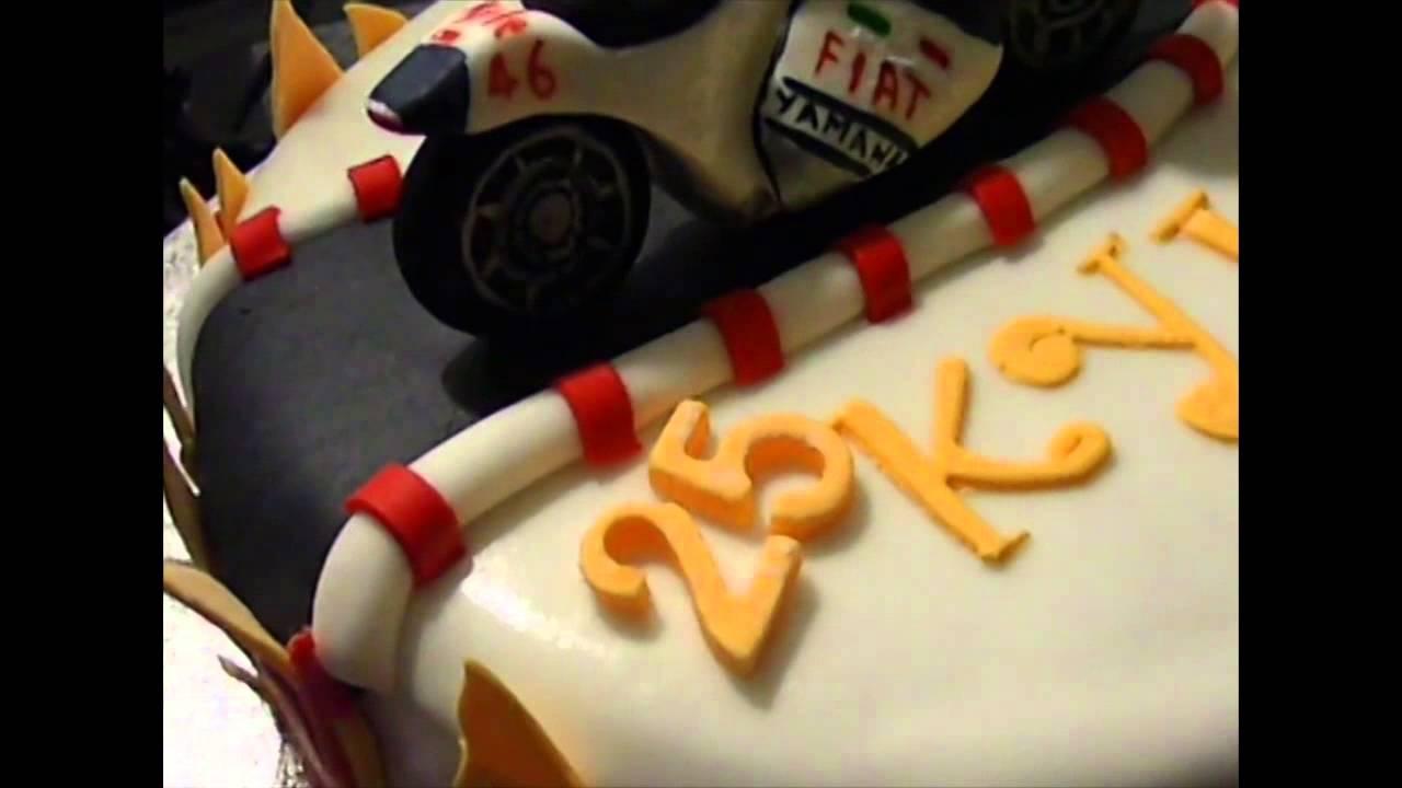 Motorbike Cake Torta Con Moto 3d Di Valentino Rossi Youtube