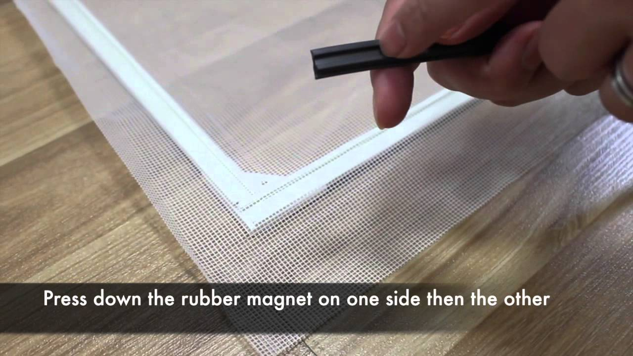 How To Fix Magnetic Mosquito Net Youtube