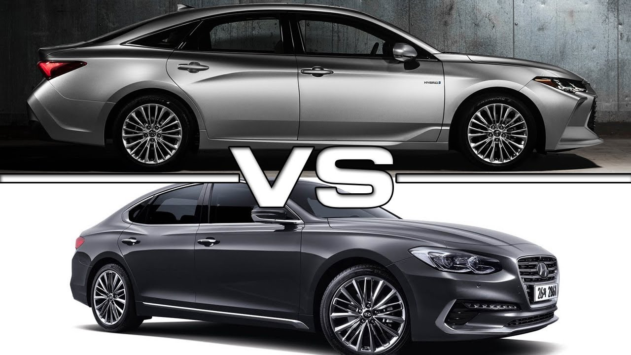 2019 toyota avalon vs 2018 hyundai azera - youtube