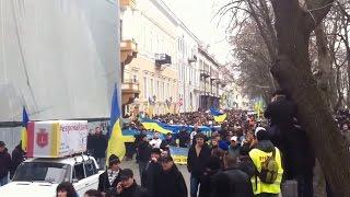 Ukraine War - Rally against Russian intervention in Odessa Ukraine