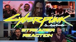 CyberPunk 2077 deutsche Streamer Reaktionen  - Keanu Reeves Auftritt - Gronkh, PietSmiet, Staiy