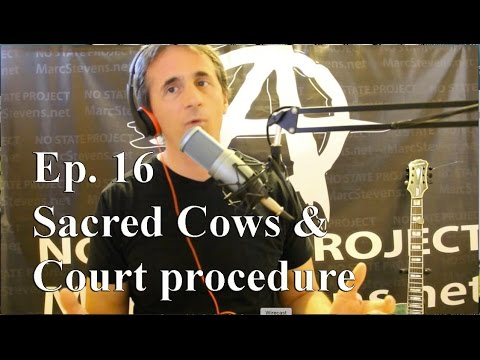 Sacred Cows and Court Procedure - Ep 16 Marc Stevens' No State Project
