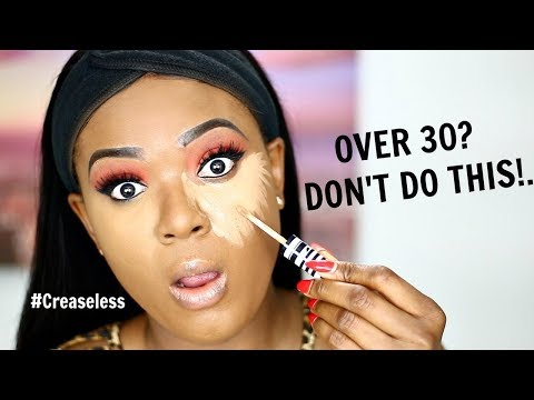 OVER 30?!! STOP APPLYING CONCEALER LIKE THIS! ACHIEVE A CREASE FREE UNDEREYE | OMABELLETV