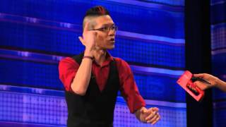 rogue mel b panics playing russian roulette game with magician agt 2014