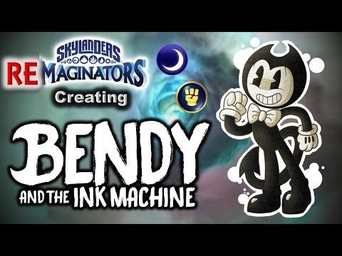 Skylanders RE-maginators - Creating BENDY from Bendy and the Ink Machine in Skylanders Imaginators!
