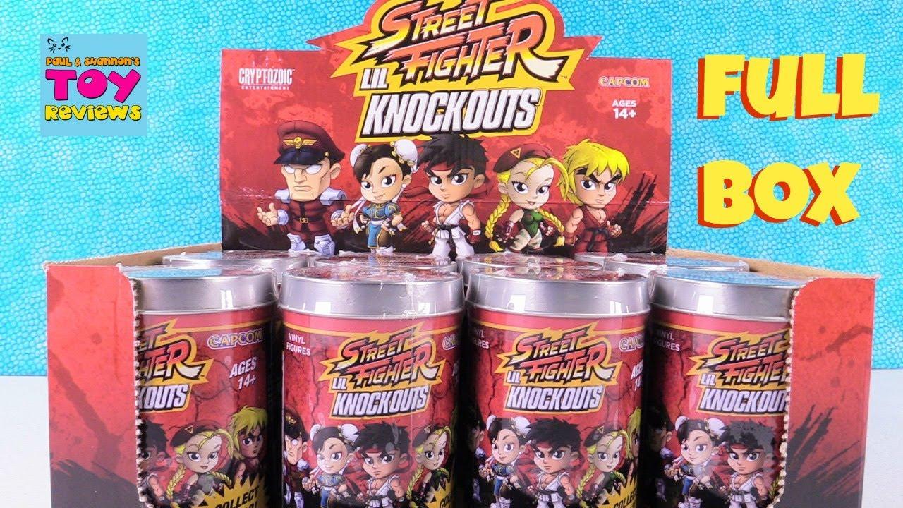Cryptozoic Street Fighter Lil Knockout Vinyl Figures