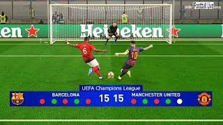 PES 2019 | BARCELONA vs MANCHESTER UNITED | Penalty Shootout | UEFA Champions League (UCL) Final