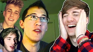 WATCHING YOUTUBERS LEAST VIEWED VIDEOS (Pewdiepie, Jake Paul, and Markiplier - #1)
