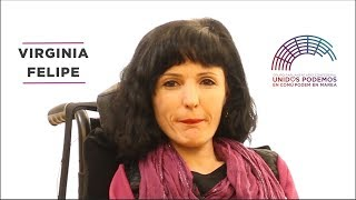 Virginia Felipe sobre la Comisión de Discapacidad
