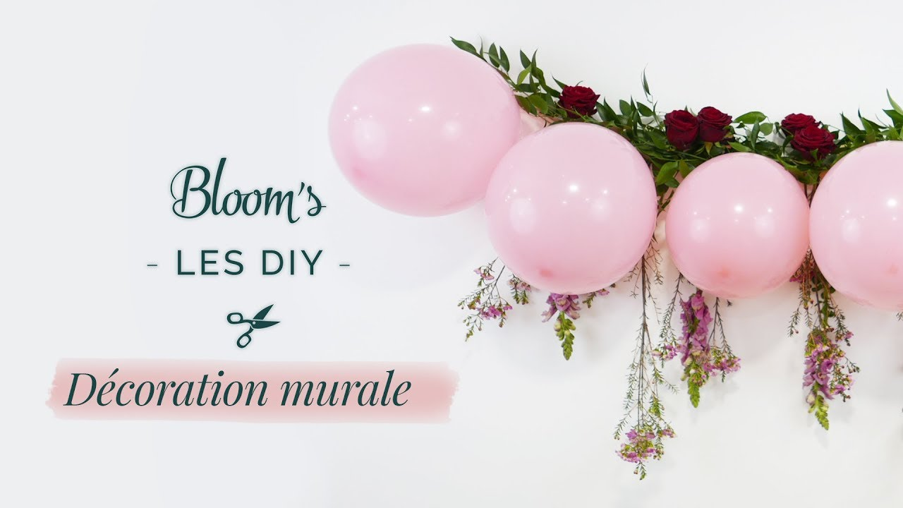 Diy d coration murale fleurie youtube for Decoration murale youtube