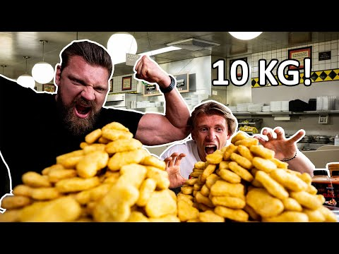 10 KG KIP NUGGETS CHALLENGE MET THE DUTCH GIANT | WUTRU
