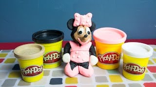 Minnie Mouse Play Doh - How to Make Minnie Mouse! - Kinder Playtime