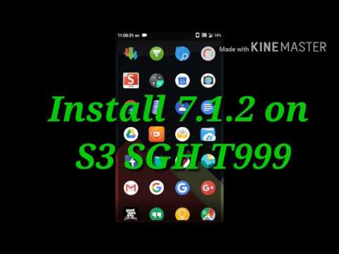 galaxy s3 install cm14.1.2 lastest rom version 7.1.2 link download