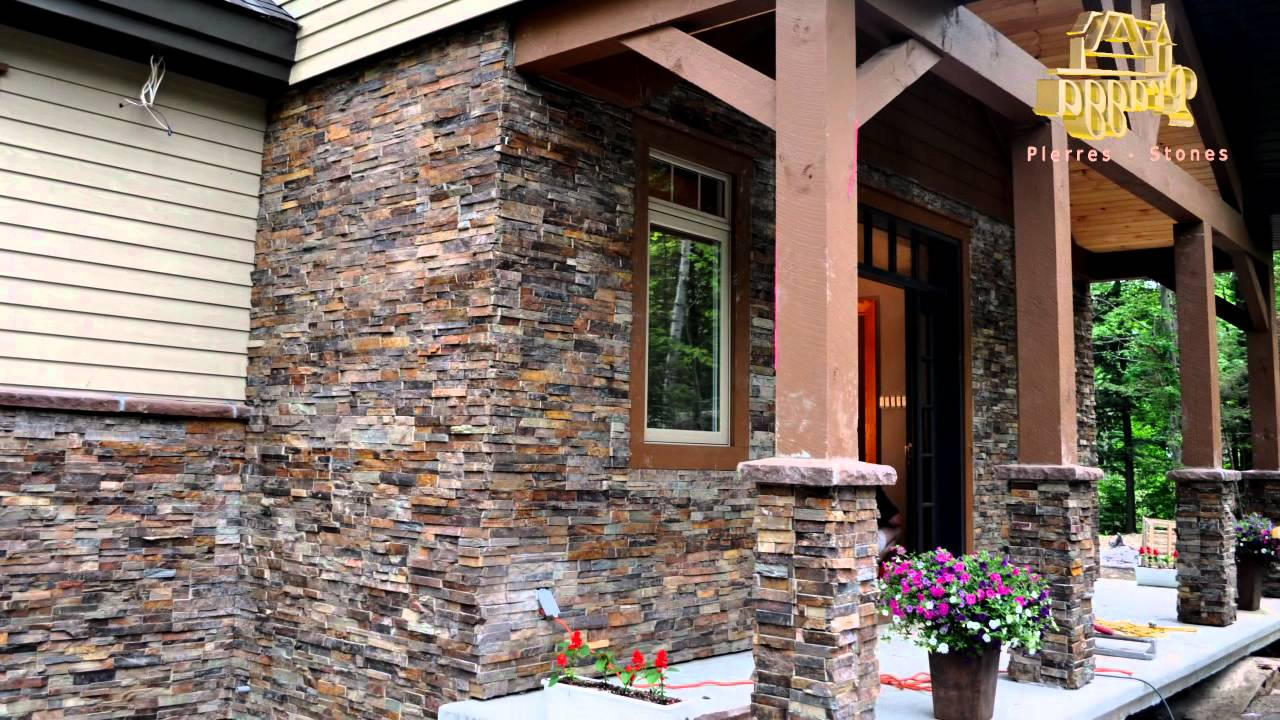 pierre d corative pragga stone installation exterieur exterior youtube. Black Bedroom Furniture Sets. Home Design Ideas