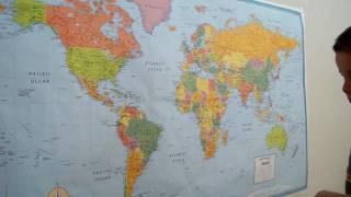 Arath Reynoso en el Mapa Mundi (2 yrs old)