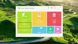 windows 10  - How to Find Your SNID/Serial Number in Acer Care Center