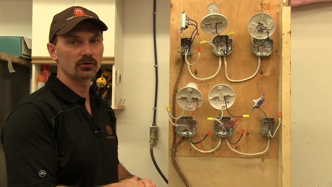 how to wire a single pole light switch youtube single pole switch wiring in series as well as light switch wiring [ 1280 x 720 Pixel ]